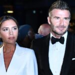 epa07815537 British former soccer player David Beckham (R) and his wife, British fashion designer Victoria Beckham arrive for the GQ Men Of The Year Awards 2019 ceremony in London, Britain, 03 September 2019. The awards are presented by international monthly men's magazine GQ.  EPA/FACUNDO ARRIZABALAGA