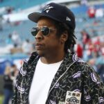 epa08189138 US singer Jay-Z on the field hours before the NFC Champion San Francisco 49ers play the AFC Champion Kansas City Chiefs in the National Football League's Super Bowl LIV at Hard Rock Stadium in Miami Gardens, Florida, USA, 02 February 2020.  EPA/LARRY W. SMITH